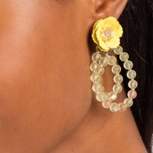 Francesca's Collections Jewelry - Paisley Floral Beaded Circle Drop Earrings